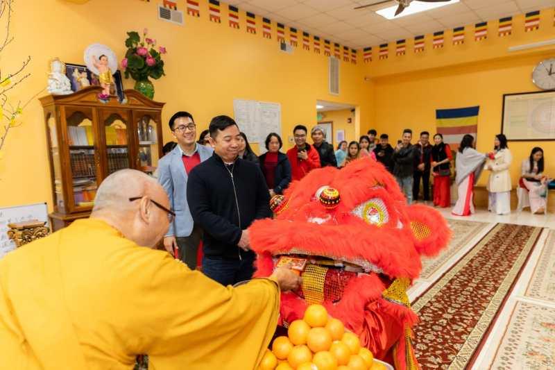 Temple celebration at Chua An Quang
