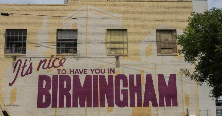 its nice to have you in birmingham mural