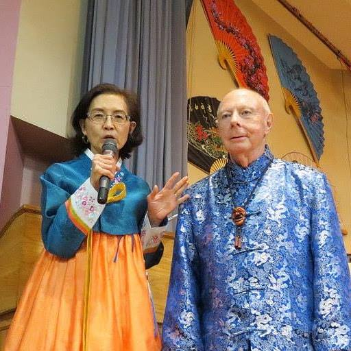 Helen Kim and the late Bob Davis, founder of the Alabama Asian Cultures Foundation