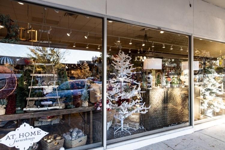 holiday window display in Homewood