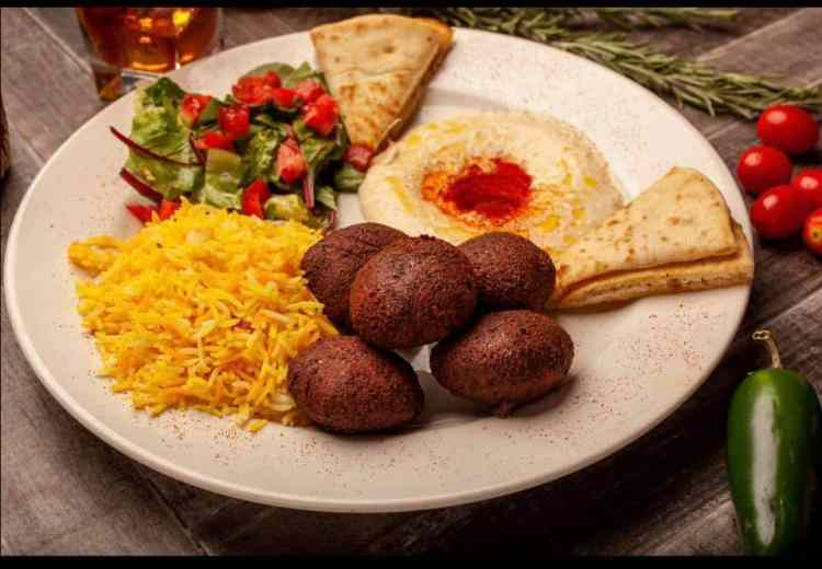 Plate of food from Red Sea Ethiopian