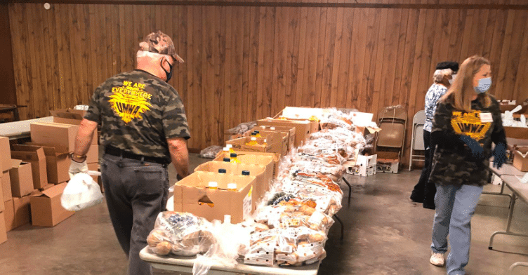 Community partners feed 130 laid off coal miners & their families for the holidays