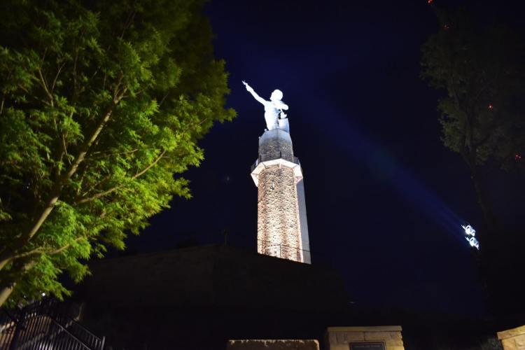 Vulcan at nighttime - Vulcan Holiday Market, holiday events in Birmingham