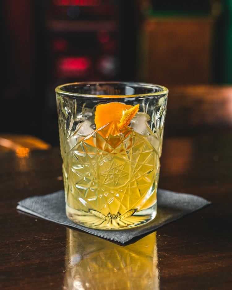 orange rum cocktail for enjoying the Iron Bowl in Birmingham while staying socially distanced