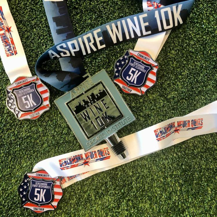 Aspire Wine virtual 10K and Benchmark First Responder virtual 5K