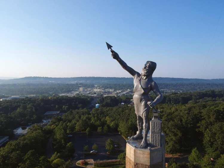 Vulcan statue overlooking Birmingham