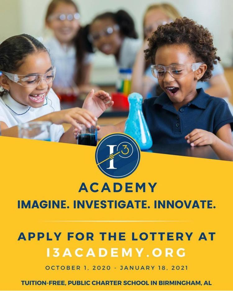 Apply for the lottery at i3 Academy