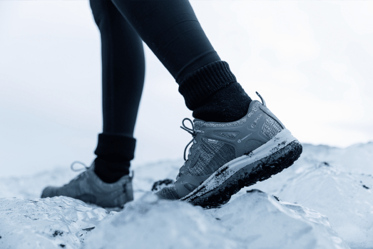 Keen shoes in snow.
