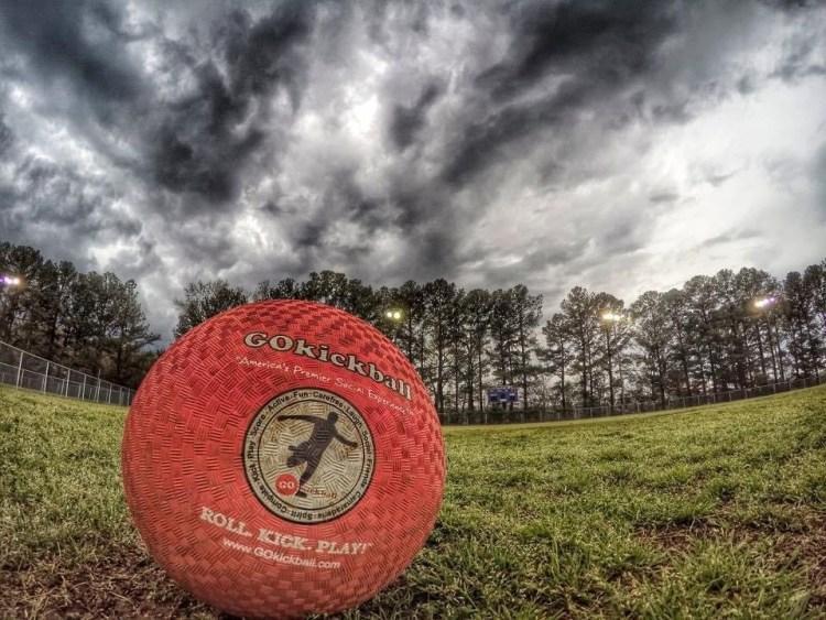 kickball on a field