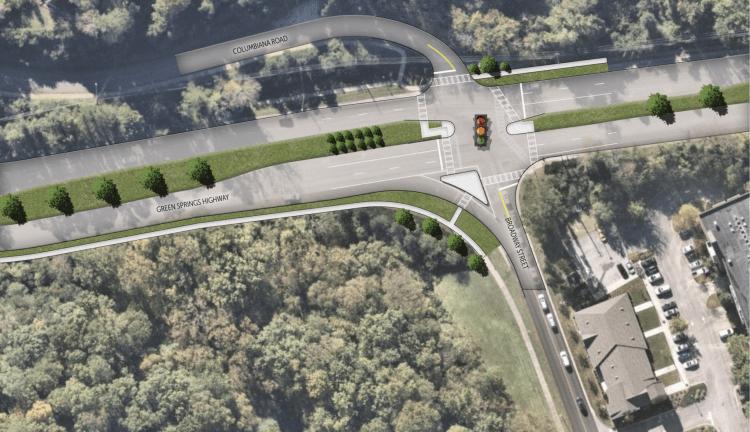 Greensprings Highway, Homewood