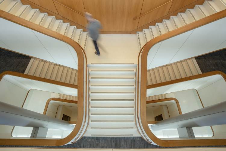 Staircase at Collat School of Business