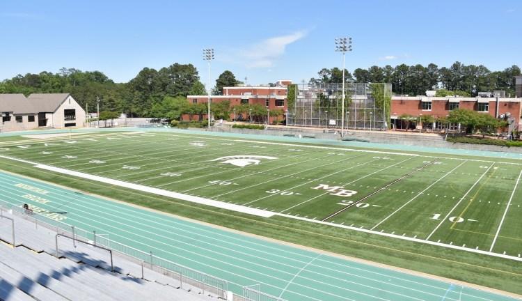 Mountain Brook High School football field, Birmingham flag football pickup league