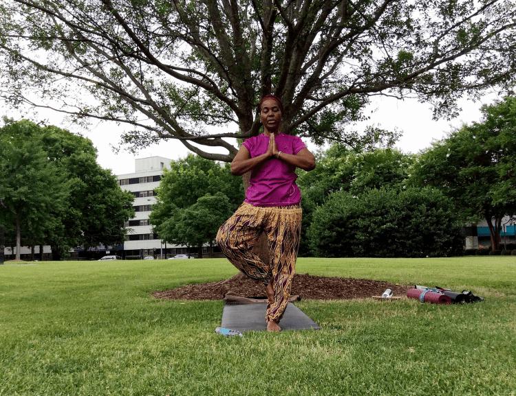 Mama Sanovia Muhammad, inspiration  to many Black women yoga teachers