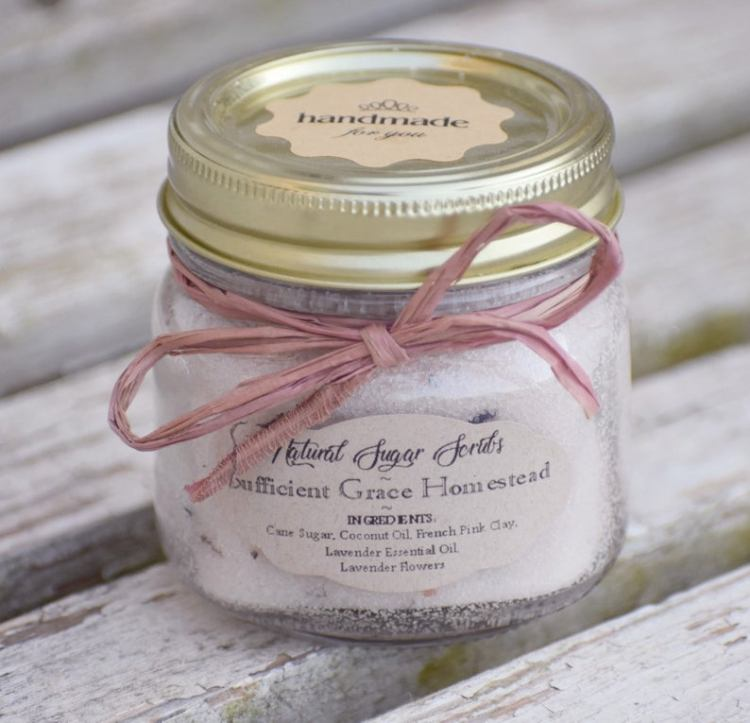 Lavender sugar scrub from SGHomesteadCo