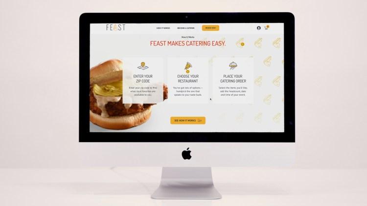 Feast catering website