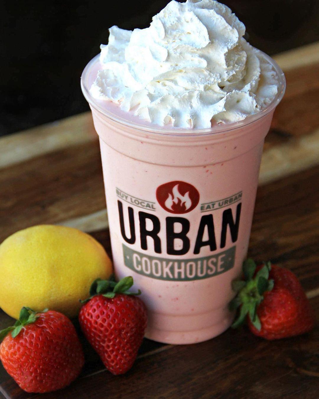 strawberry lemonade milkshake