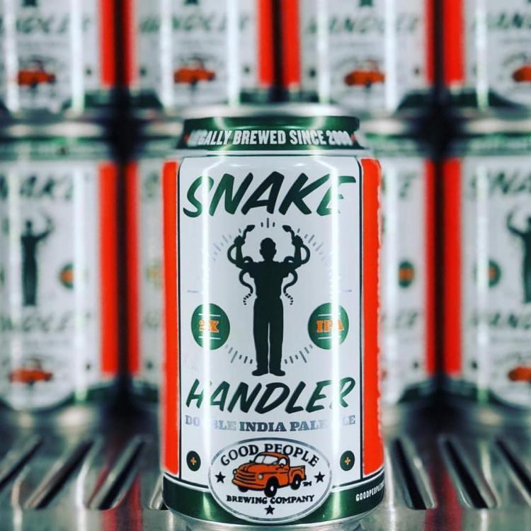 can of Good People's Snake Handler Double IPA