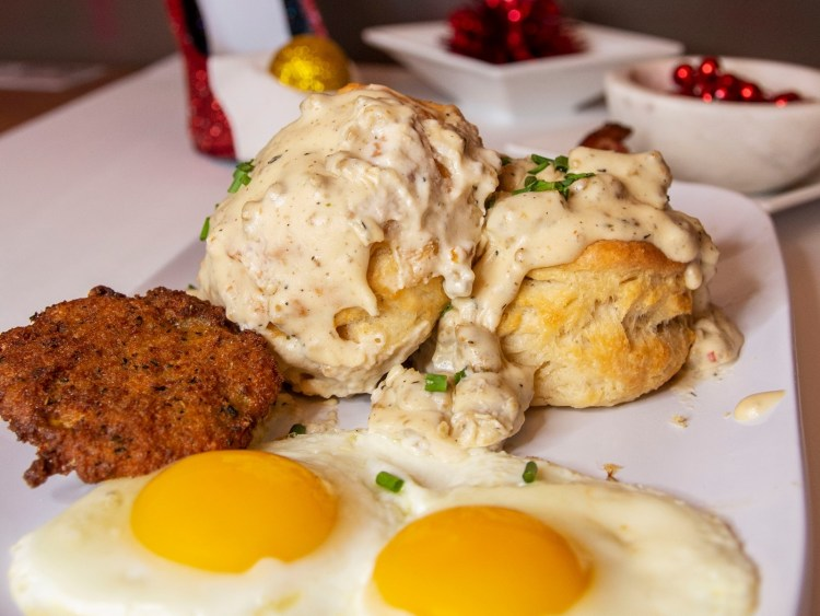 Ruby Sunshine biscuits and gravy
