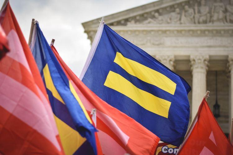 Human rights campaign flag LGBTQ+ rights