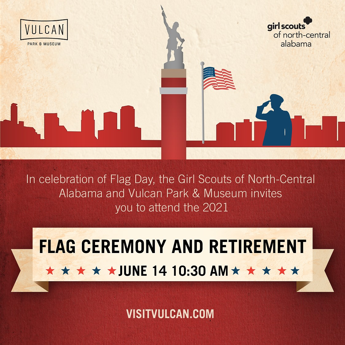 Flag Day with Vulcan