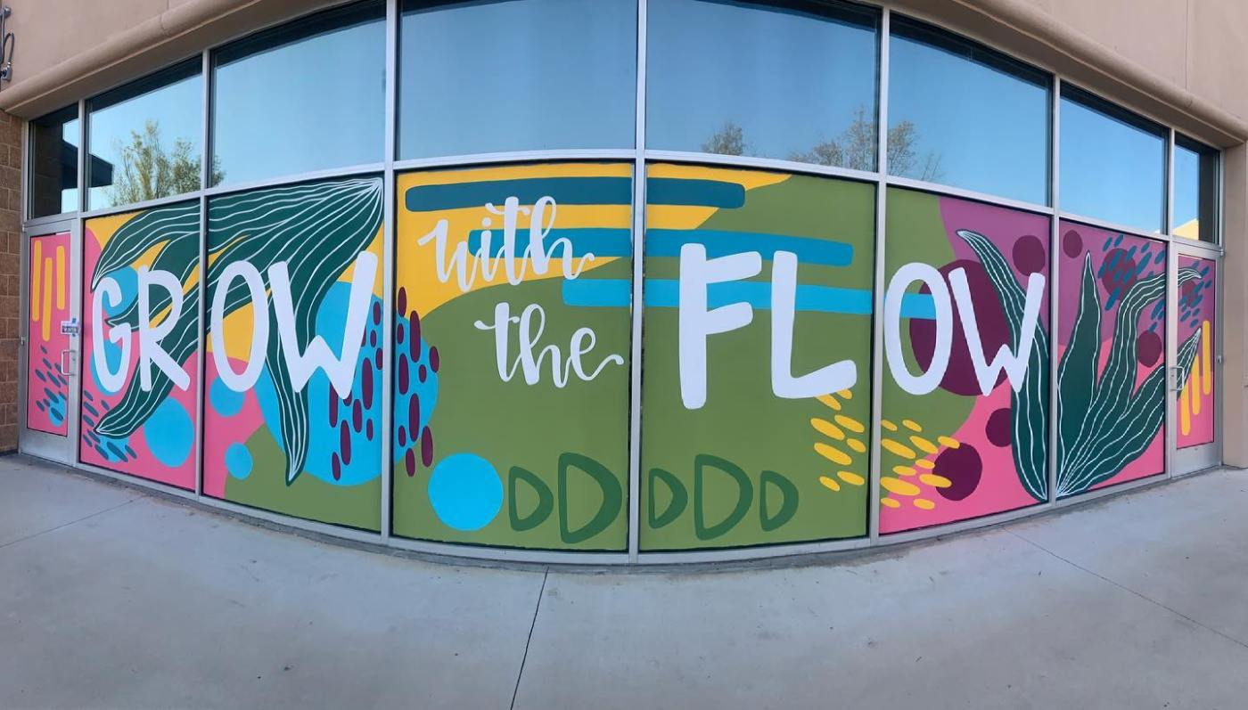 """""""Grow with the Flow"""" mural"""