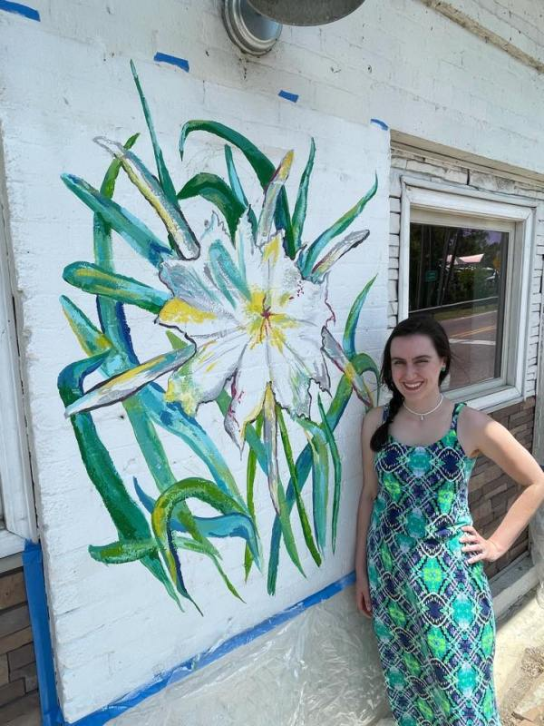 Oversoul Brewing Cahaba Lillies Mural
