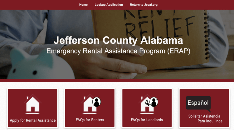 Rental assistance page
