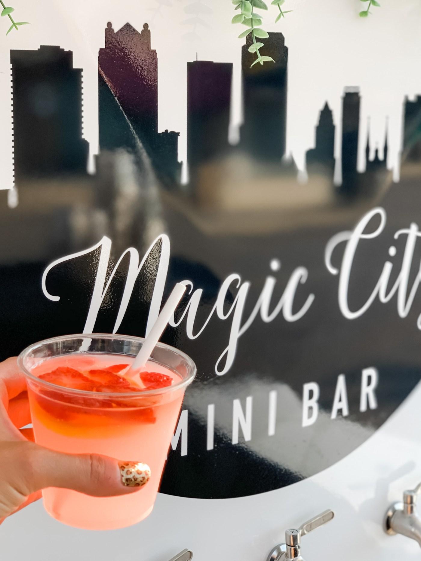 Magic City Mini Bar - Birmingham mobile cocktail cart