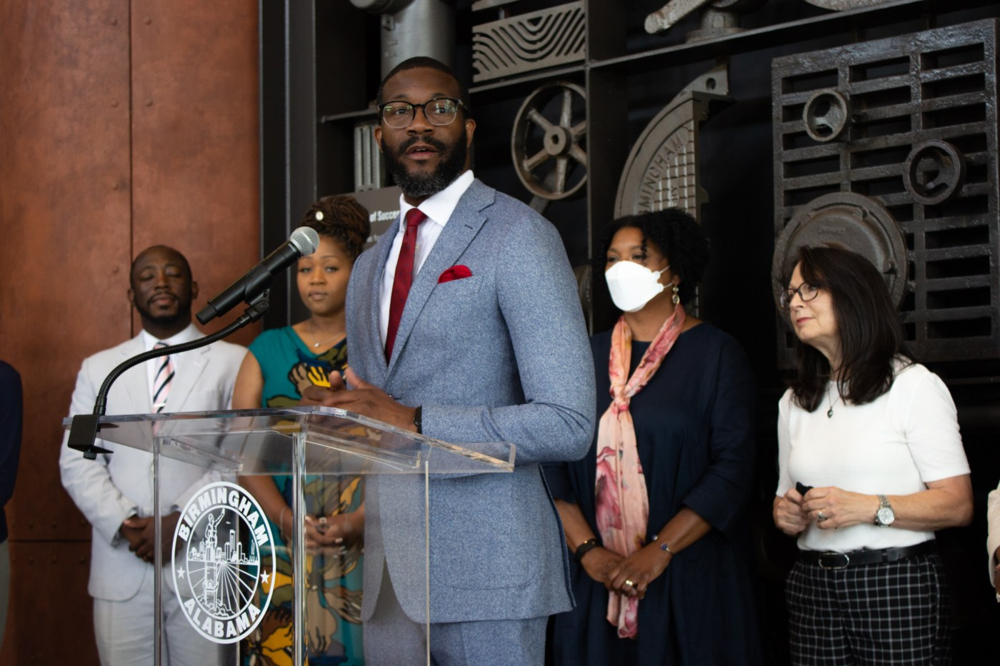 Mayor Woodfin emphasized that the celebrations this year will include all Birminghamians. Photo by Libby Foster for Bham Now.