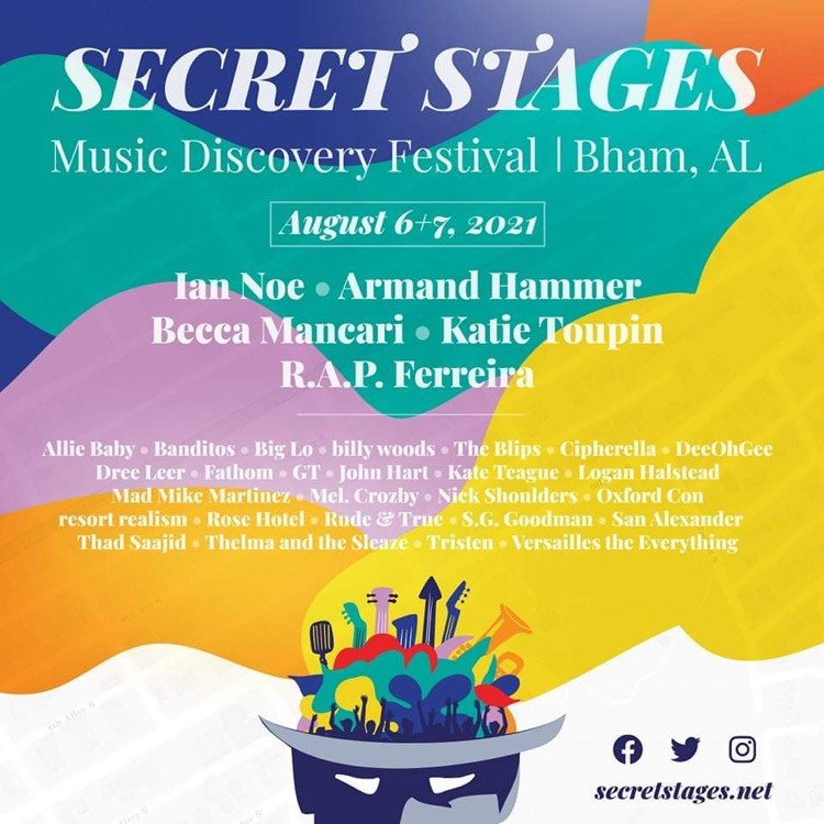 The Secret Stages lineup is AMAZING this year! Photo courtesy of Secret Stages