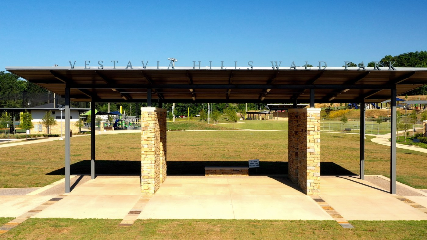 the new pavilion at Wald Park