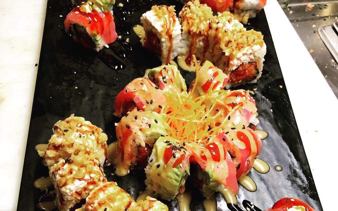 Abhi, food, sushi