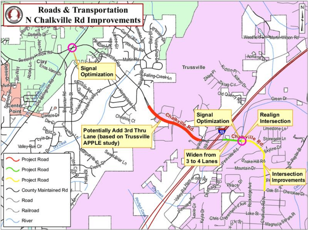 North Chalkville Road project