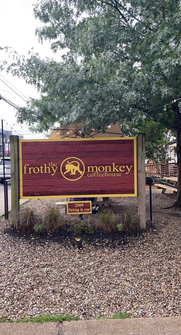 Frothy monkey Nashville sign