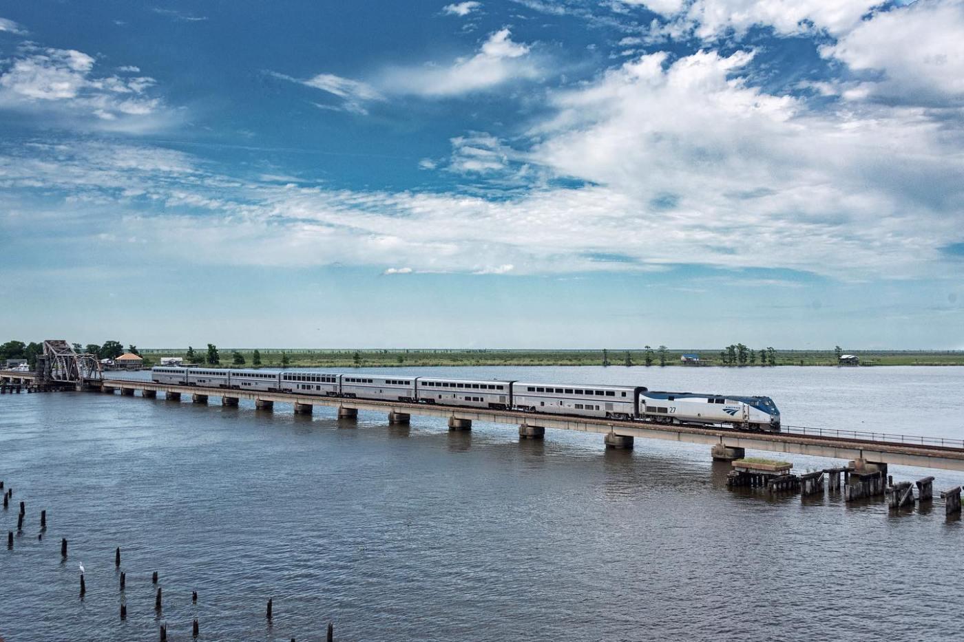 Amtrak's New Orleans route. Photo via Amtrak's Facebook