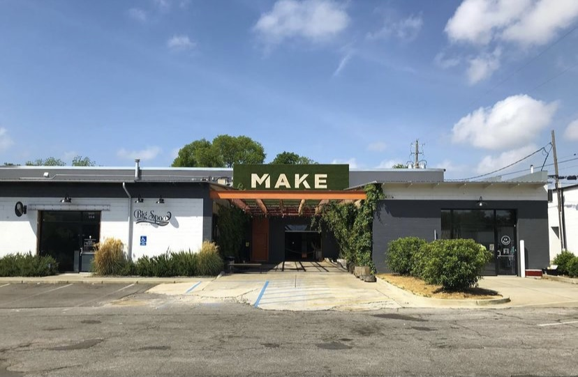 front of the make bhm building where art and coworking combine