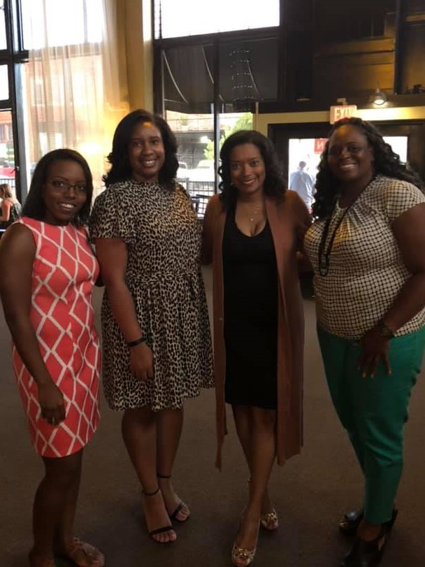 3 NABA women standing together at an event