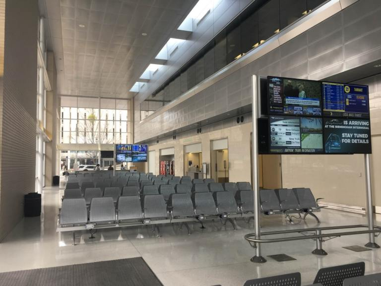 Birmingham's Intermodal Facility. Photo via Hunter Drinkard for Bham Now