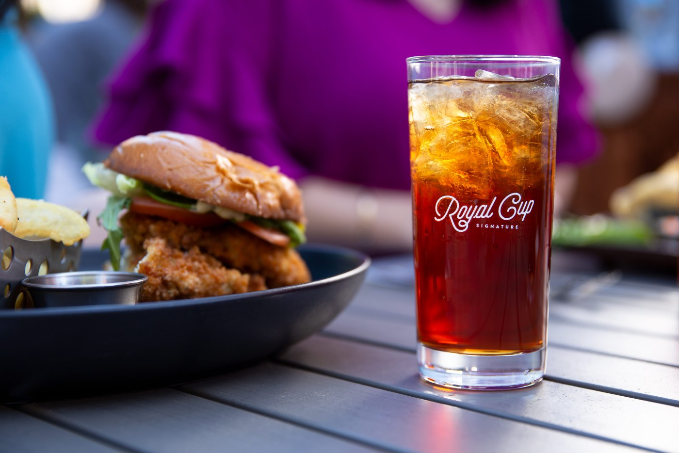 A refreshing glass of Royal Cup's iced tea