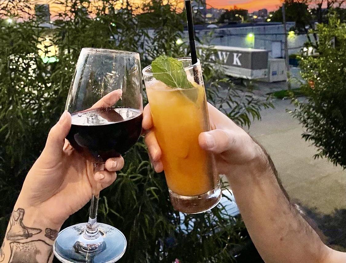 cheers, drinks, Mayawell Bar