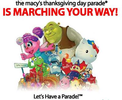 Macy's parade - partial screenshot