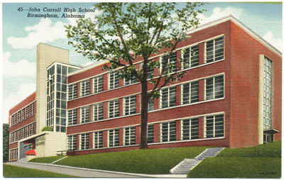John Carroll High School postcard, 1947.