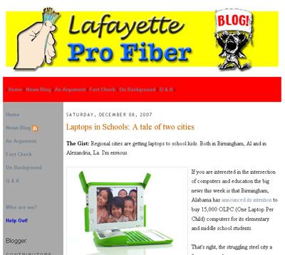 Lafayette Pro Fiber screenshot
