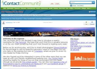 The Express - iContactCommunity screenshot
