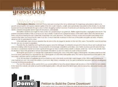 Screenshot of BirminghamGrassroots.com