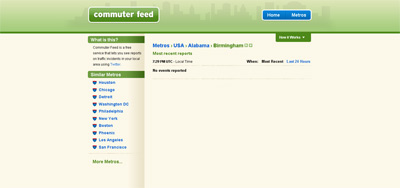 CommuterFeed.com screenshot