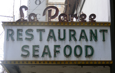La Paree restaurant sign