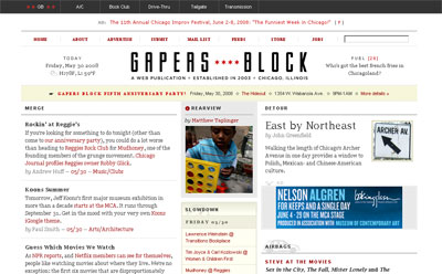 Gapers Block screenshot
