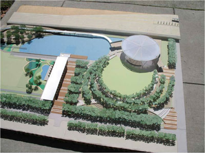 Model of Railroad Park structures. Special to bhamterminal.com