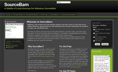 screenshot of SourceBarn.com